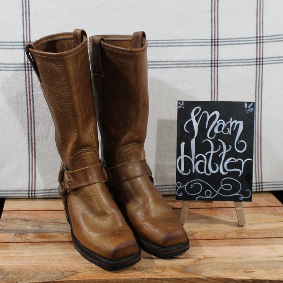 Frye Shoes - Frye Harness Boots 77300 Gold Boots